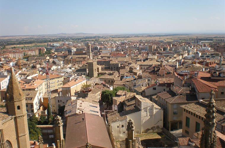 Huesca desde el Campanario de la Catedral / Foto: Murcianboy (wikimedia commons)