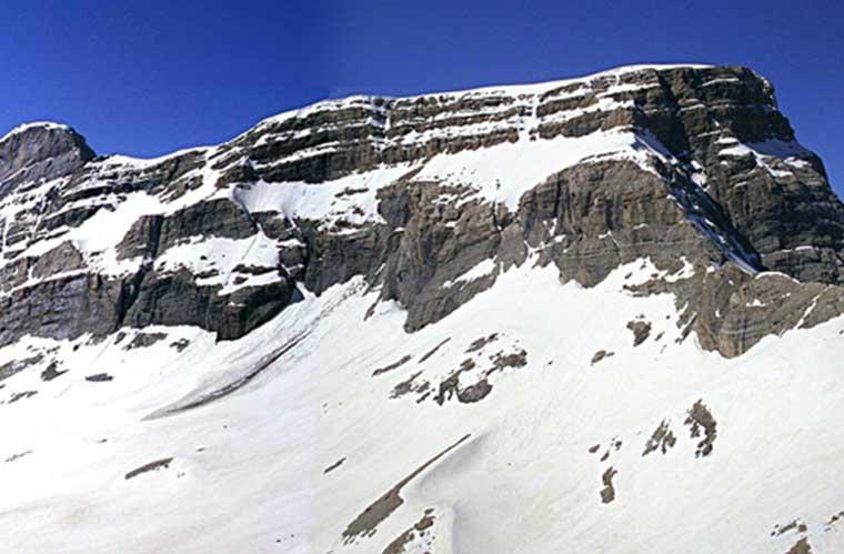 Panorámica del Marboré, el Cilindro y el Monte Perdido / Foto: manu esf (vía Wikimedia Commons