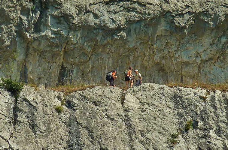 Chemin de la Mature: el camino tallado en la roca / Foto: Thierry Llansades (Flickr)