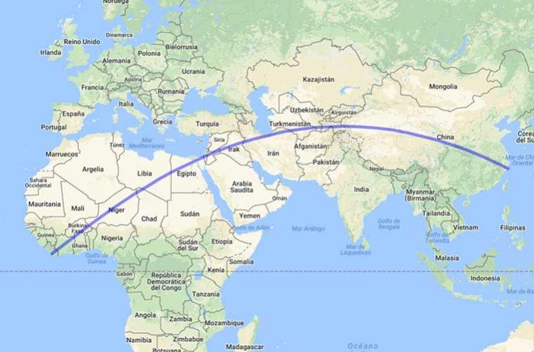La caminata en línea recta más larga del mundo