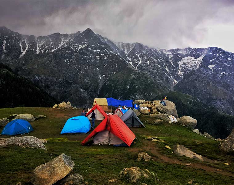 Elegir el lugar indicado para acampar / Foto: Rishabh Pandoh