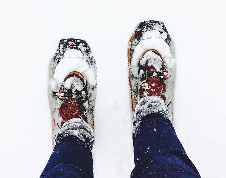 Las raquetas de nieve / Foto: Greg Rakozy