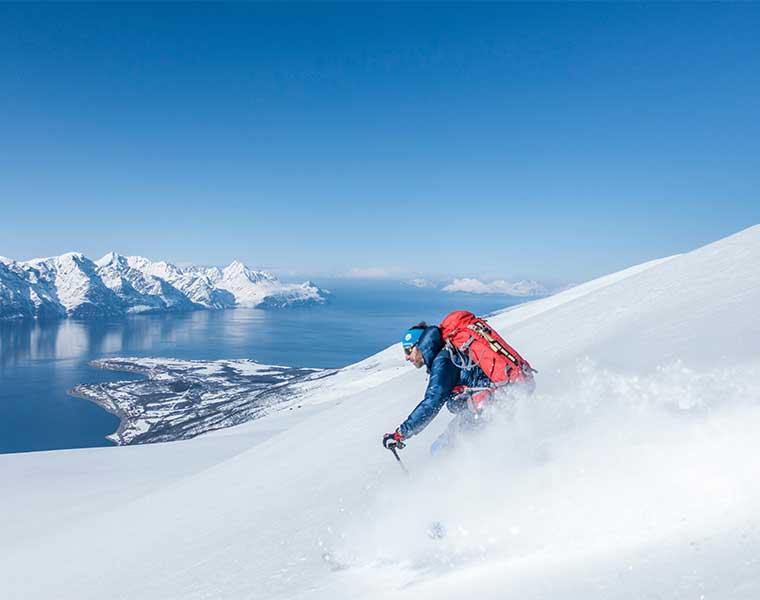 Practica con nieve estable / Foto: Hendrik Morkel