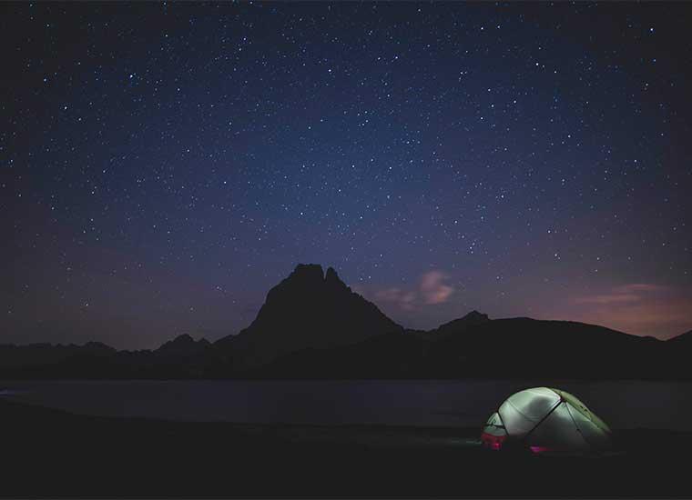 Noche en el Lacs d'Ayous, Laruns, Pirineos franceses/ Foto: Yann Bervas