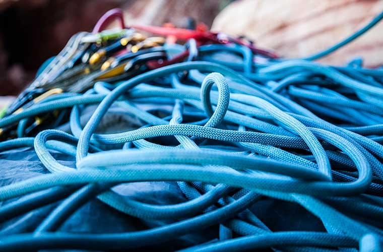 Tipos de cuerdas de puenting / Foto: Brook Anderson