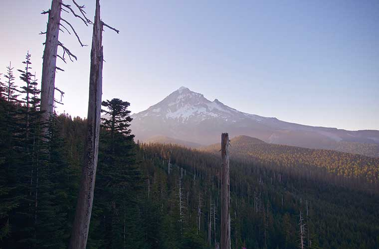 Mount Jefferson. Tomada durante el trekking del Pacific Crest Trail. / Foto: Ross Noble