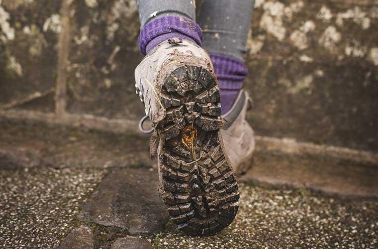 Suelas de las botas de senderismo/ Foto: Grant Ritchie