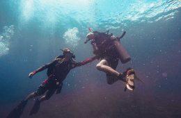 Usando un equipo de buceo / Foto: Nik Macmillan