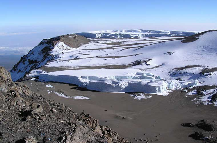 Glaciar y cima del Kilimanjaro / Foto: Yosemite (Wikimedia Commons)