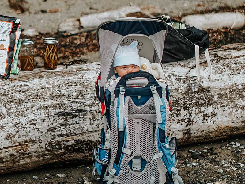 Mochila portabebes para salidas y excursiones / Foto: Jessica To'oto'o