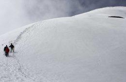 Parte final de la ascensión invernal a Monte Perdido / Foto: Eduardo Azcona