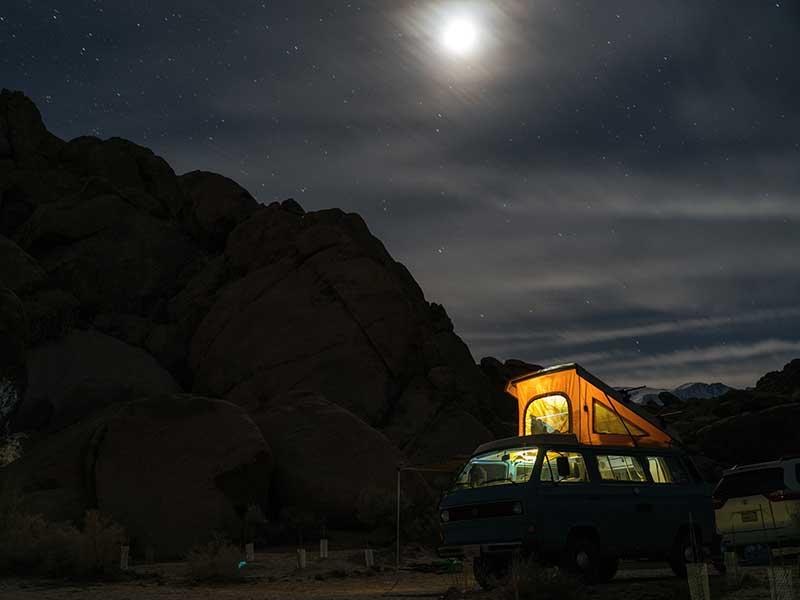 Dónde dormir en furgoneta / Foto: Tommy Lisbin