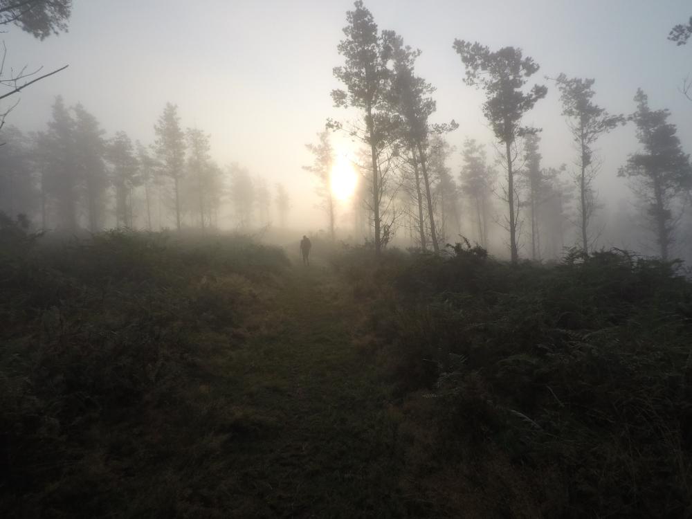 Tramo navarro GR11. La niebla fue compañera de la aventura / Foto: Enric Cáceres i Jaume Canet (100Fites)