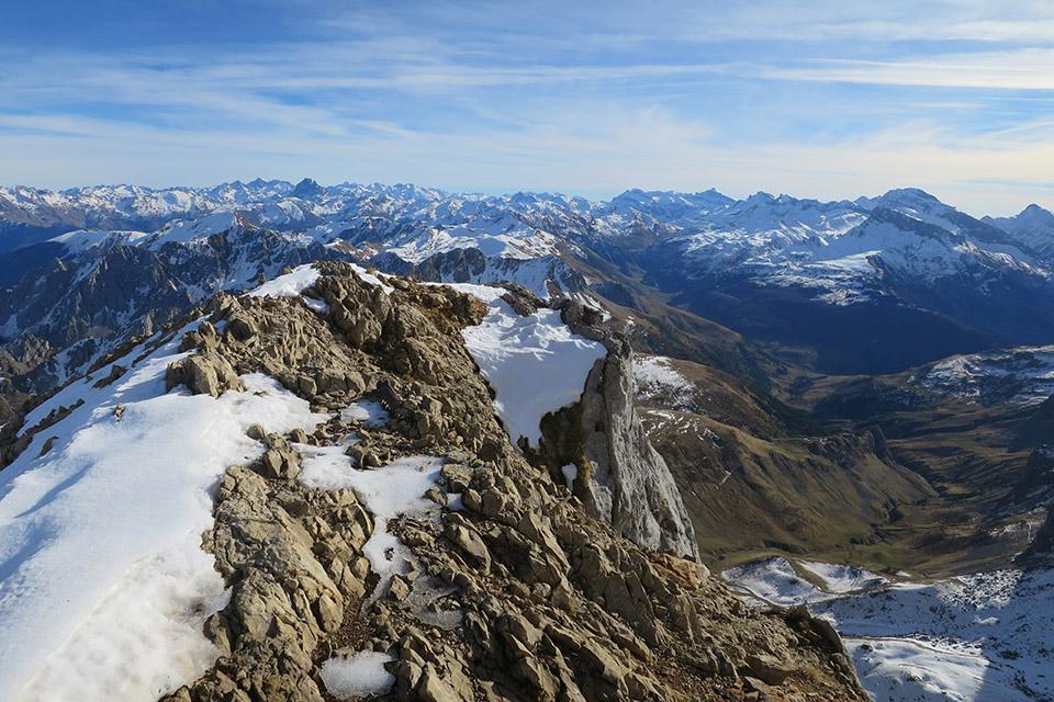 Picos solitarios en los Valles Occidentales, Pirineos.