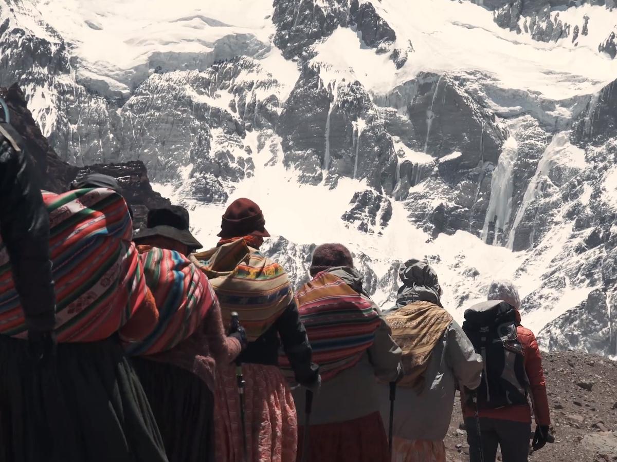 Cholitas escaladoras. / Foto: Documental