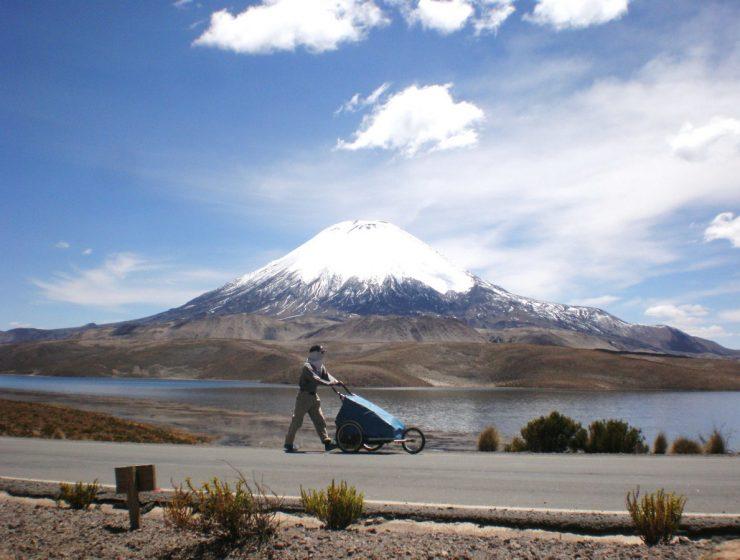 Volcán Parinacota en los Andes. / Foto: Nacho Dean