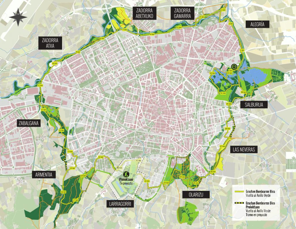 Anillo Verde, Vitoria-Gasteiz. Imagen: vitoria-gasteiz.org