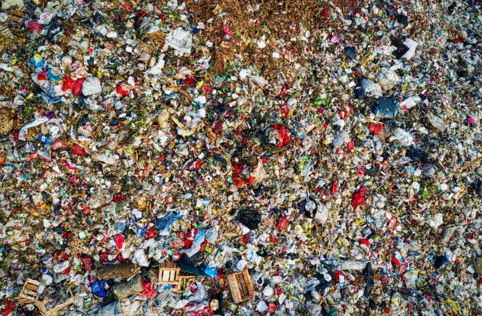 Isla de basura del pacifico