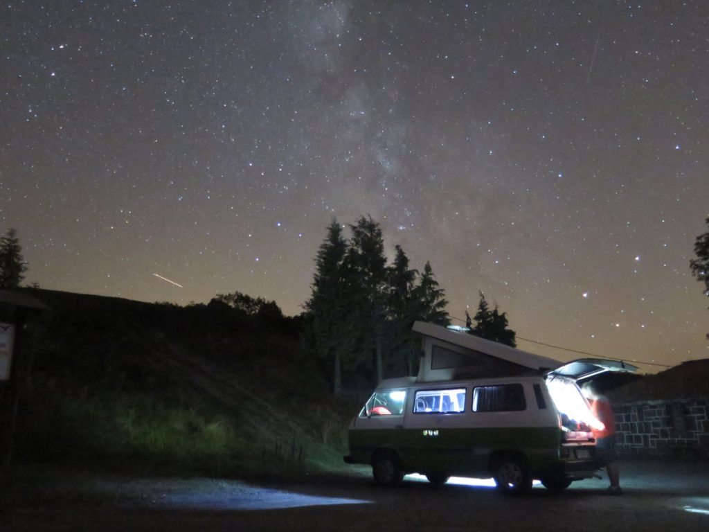 Una noche bajo millones de estrellas, el Pirineo. Foto: Travesía.